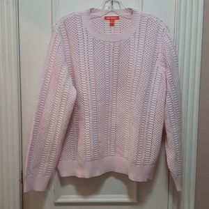 🛍️ Light pink knit crewneck sweater